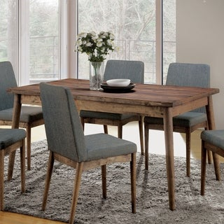 furniture of america reynorth midcentury modern natural tone dining table