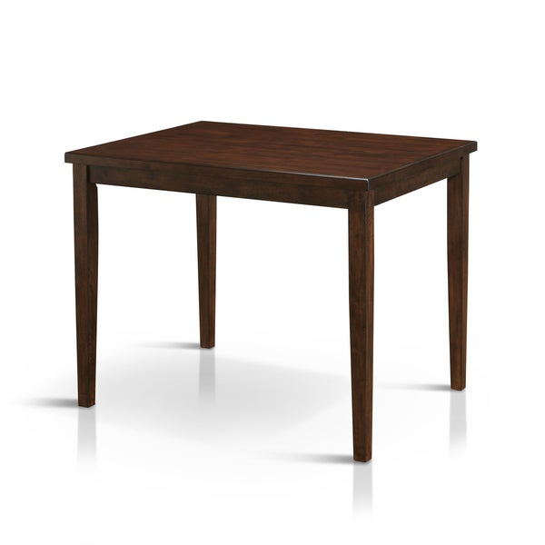 tenor mid century modern brown cherry counter height dining table