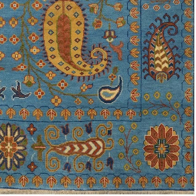 Herat Oriental Indo Tribal Kazak Wool Rug  - 8' x 10'