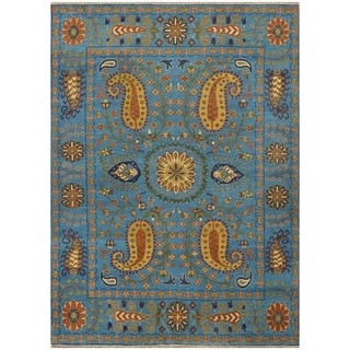 Herat Oriental Indo Hand-knotted Tribal Kazak Wool Rug (8' x 10')