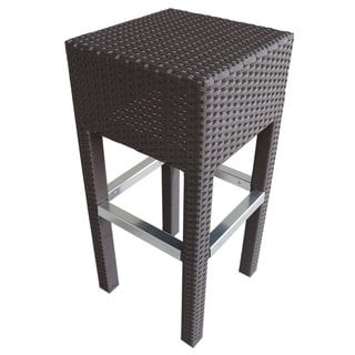 Abba Patio Brown Outdoor Wicker Barstool Patio Furniture Bar Stool