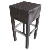 Abba Patio Brown Outdoor Wicker Barstool Patio Furniture Bar Stool