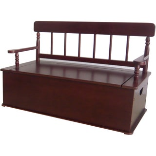 Levels of Discovery Cherry-finish Wood Bench Seat With Storage