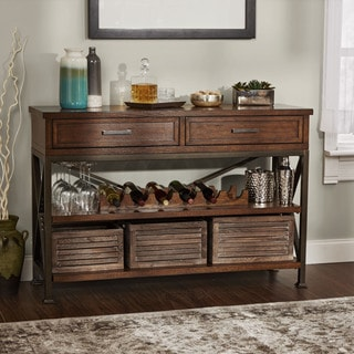 Knowles Rustic Wine Cabinet and Buffet by Silverwood
