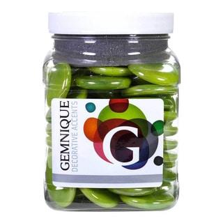 Gemnique Green Iridized Glass X-large 48-ounce Opaque Gems