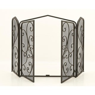 Urban Designs Antigua Protective 3-panel Fireplace Screen