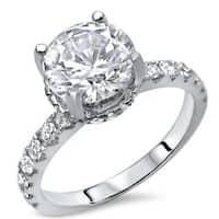 Noori 18k Gold 1 1/2ct TDW Round-cut Enhanced Diamond Engagement Ring - White G-H