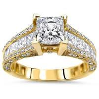 Noori 14k Gold 2 2/5ct TDW Princess-cut Enhanced Diamond Engagement Ring - White G-H