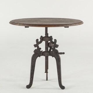 Regina Reclaimed Weathered Grey Teak Adjustable Round Dining Table
