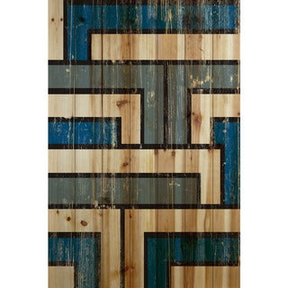 Marmont Hill - Handmade Tetris Painting Print on Natural Pine Wood