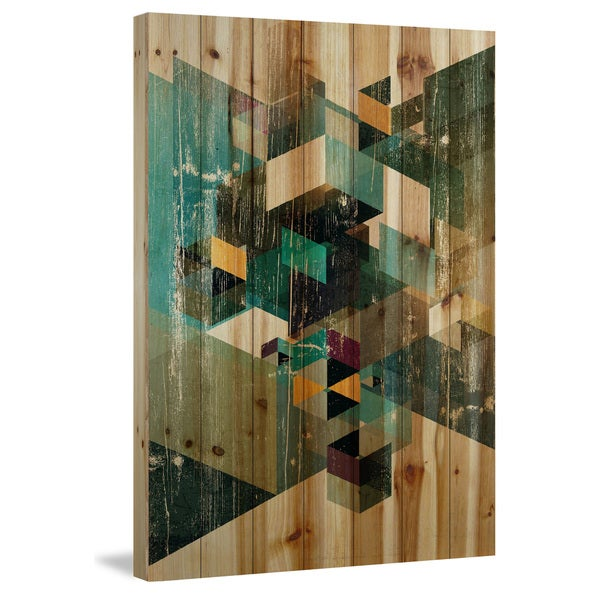 Marmont Hill - Handmade Dimensional Jenga Painting Print on Natural Pine Wood