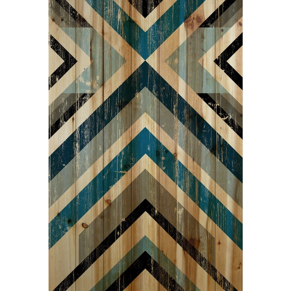 Marmont Hill - Handmade Climbing Vees Painting Print on Natural Pine Wood