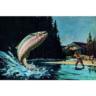 Marmont Hill - 'Rainbow Trout' Painting Print on Wrapped Canvas