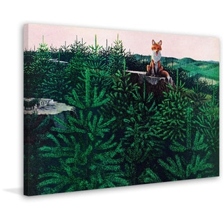 Marmont Hill - 'Mischevious Fox' Painting Print on Wrapped Canvas
