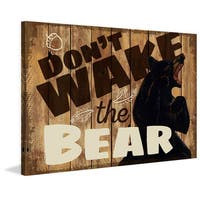 Marmont Hill - 'Don't Wake 2' Painting Print on Wrapped Canvas - White