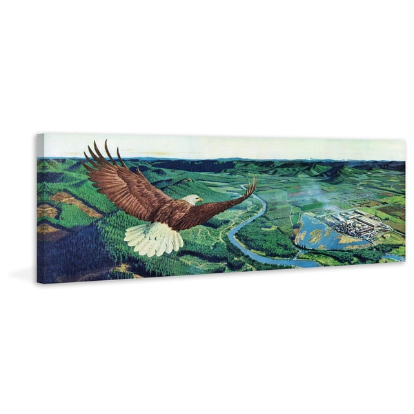 Marmont Hill - 'Bald Eagle' Painting Print on Wrapped Canvas - Green