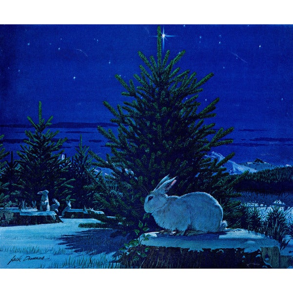 Marmont Hill - 'First Tree' Painting Print on Wrapped Canvas - Blue