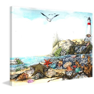 Marmont Hill - 'Undersea Life' Painting Print on Wrapped Canvas