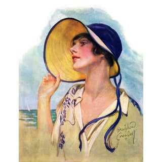 Marmont Hill - 'Sun Hat' Painting Print on Wrapped Canvas