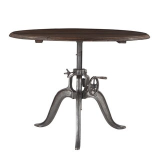 Artezia 48-Inch Adjustable Crank Round Table - Brown