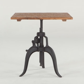 Artezia Reclaimed Teak and Cast Iron Adjustable Square Dining Table