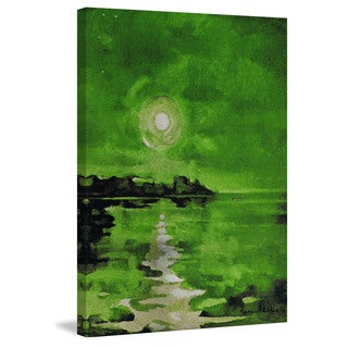 Marmont Hill - 'Green Waters' Painting Print on Wrapped Canvas