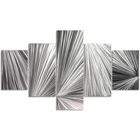 Helena Martin 'Columnar Light' Abstract Metal Art on Natural Aluminum
