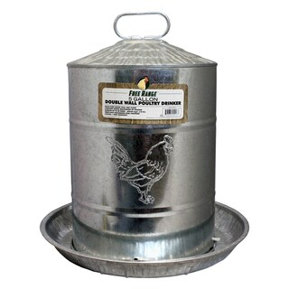 Free Range Double Metal Wall Chicken Water Fountain