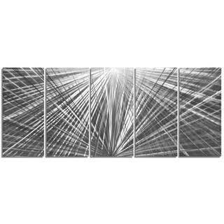 Nate Halley 'In Harmony' Starburst Metal Art on Natural Aluminum