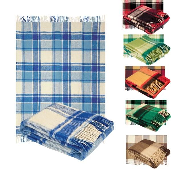 100-percent Pure Wool Classic Tarten Design Throw Blankets