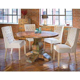 Aubagne 60-inch Reclaimed Teak Round Dining Table