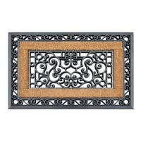Highly Durable Decorative Rubber and Coir 23 x 35-inch Molded Doormat