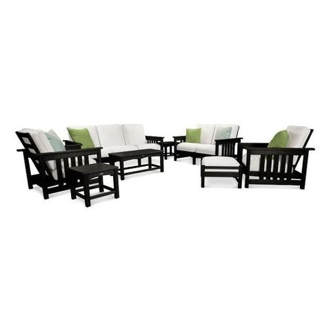 POLYWOOD® Mission 8-Piece Deep Seating Group