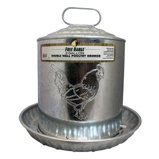 Free Range 2 Gallon Double Metal Wall Chick Water Fountain