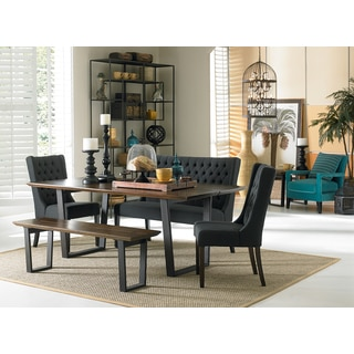 Mapai 78-inch Iron and Acacia Wood Dining Table
