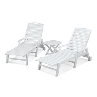 Nautical 3-Piece Polwood Chaise Set