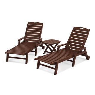 POLYWOOD Nautical 3-Piece Chaise Set (3 options available)