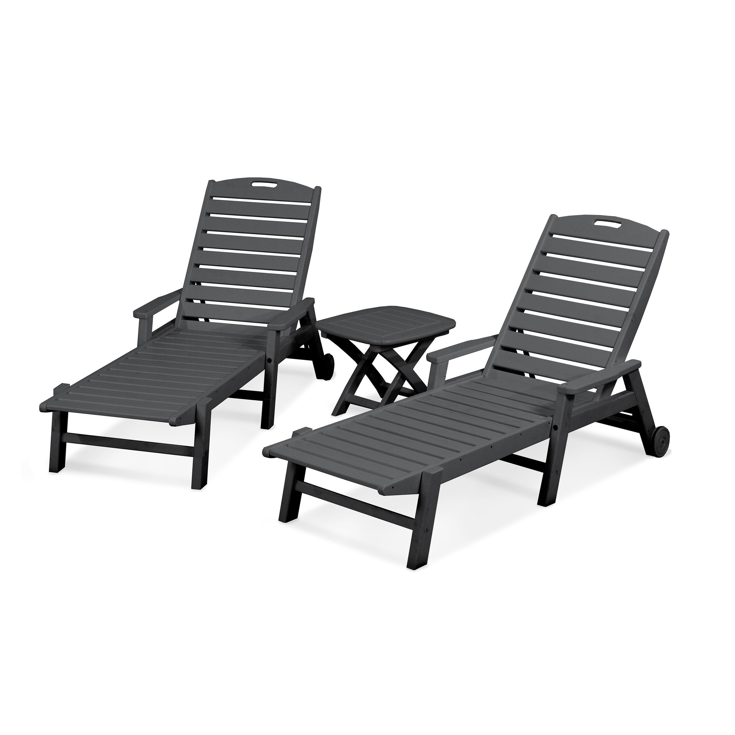 3 Piece Outdoor Chaise Lounge Set