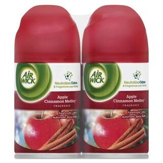 Air Wick Freshmatic ULettera Spray Refill Apple Cinnamon Medley,Aerosol,6.17-ounce,2/Pack 3Pack/Carton