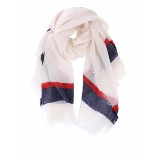 LA77 Multicolored Acrylic Striped Blanket Scarf