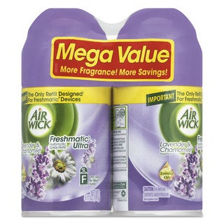 Air Wick Freshmatic ULettera Spray Refill Lavender/Chamomile Aerosol 6.17-ounce,2/Pack 3 Pack/Carton