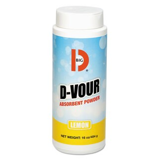 Big D Industries D-Vour Absorbent Powder Canister Lemon 16oz 6/Carton