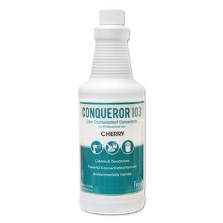 Fresh Products Conqueror 103 Odor Counteractant Concentrate Cherry 32-ounce Bottle 12/Carton