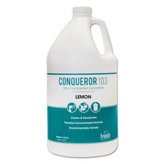 Fresh Products Conqueror 103 Odor Counteractant Concentrate Lemon 1 gal Bottle 4/Carton