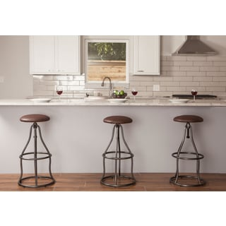 Industrial Adjustable Backless Barstool