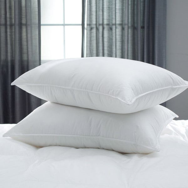 Hypoallergenic Microfiber Bed Pillow (Set of 2) - White