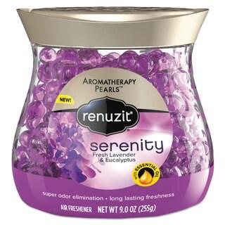Renuzit Pearl Scents Odor Neutralizer Aromatherapy Serenity 9-ounce Jar 8/Carton