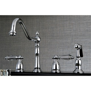 Heritage Crystal Kitchen Faucet with Side Spayer