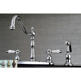 Link to Vintage Porcelain 8-inch Centerset Kitchen Faucet with Side Sprayer Similar Items in Faucets