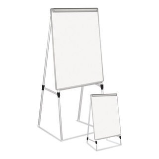 MasterVision Silver Easy Clean Dry Erase Quad-Pod Presentation Easel 45-inch to 79-inch Silver